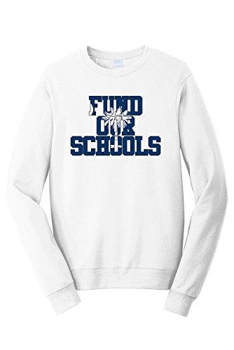 White South Carolina Sweatshirt - Tenacitee Unisex Fund Our South Carolina Schools Sweatshirt, X-Large, White