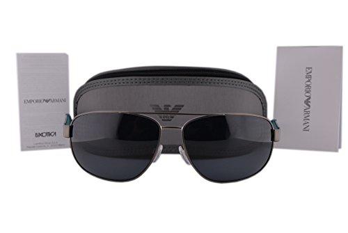 Emporio Armani EA2036 Sunglasses Matte Gunmetal w/Grey Lens 300387 EA 2036 For - Armani Emporio Ea2036 Sunglasses