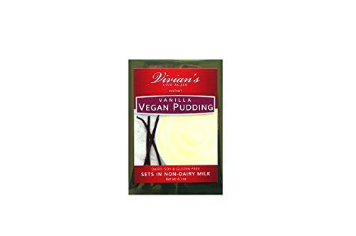 Vegan Vanilla Instant Pudding Mix 1pk by Vivian's Live Again- Dairy Free, Soy Free, Gluten Free, Nut Free (Vegan Pudding Mix)