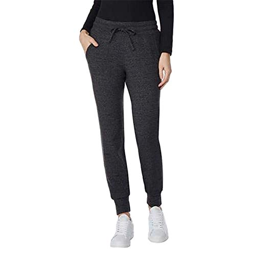 32 DEGREES Ladies' Fleece Jogger, Variety (Heather Charcoal, Small)