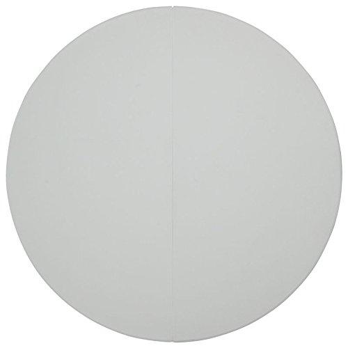 Eight24hours 72'' Round Bi-Fold Granite White Plastic Folding Table NEW