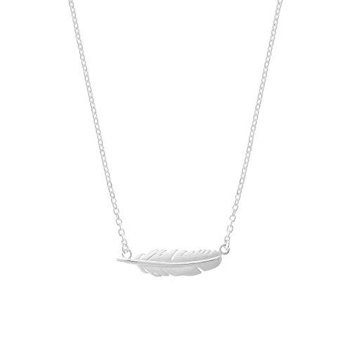 (Boma Jewelry Sterling Silver Feather Necklace, 16 inches)