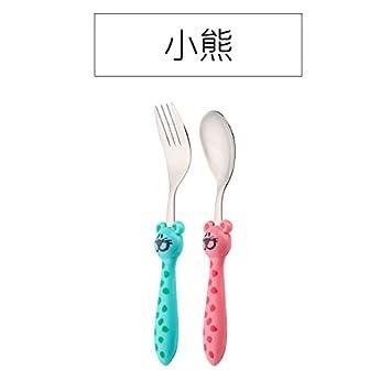 Amazon.com: Xing Lin - Juego de tenedor y cuchara para bebé ...