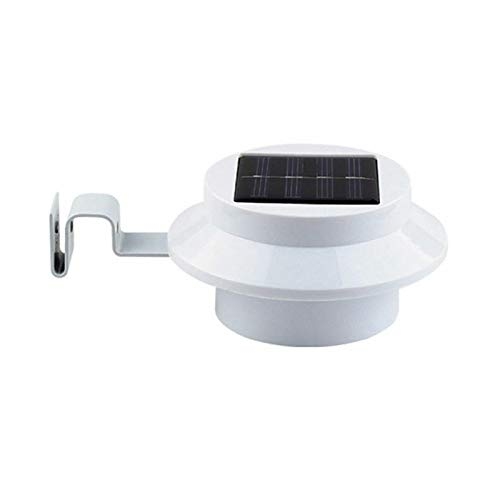 1pc 3-LED Solar Powered Gutter Light Outdoor/Garden/Yard/Wall/Fence/Pathway Lamp