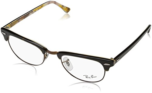Ray-Ban RX5154 Clubmaster Square Eyeglass Frames, Tortoise On Texture Camouflage/Demo Lens, 51 ()