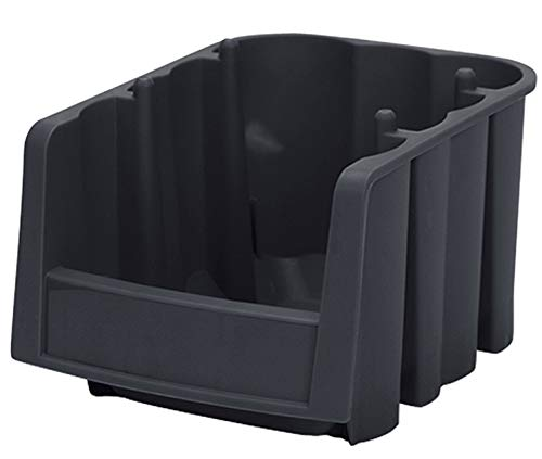 (Akro-Mils 30796 Economy Stacking Nesting Plastic Storage Bin, 8-7/8-Inch Long by 6-5/8-Inch Wide by 5-Inch High, Black, Case of)