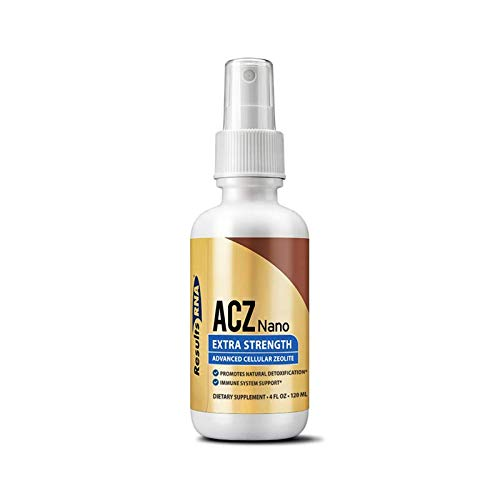Results RNA ACZ Nano Advanced Cellular Zeolite Extra Strength | Great for Total Body Detoxification and Immune System Health - 4oz Bottle