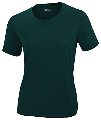 Ash City - Core 365 North End Women's Crew Neck Performance Pique T-Shirt, Forest Gren 630, - Jersey Outlets New City