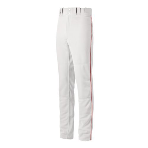 Mizuno Youth Select Pro Piped G2 Pants, White/Red, Medium