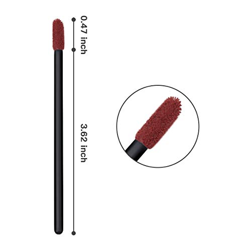 Tifanso 100 PCS Disposable Lip Brush Gloss Wands Applicator Perfect Beauty Lipstick Cosmetic Makeup Tool Kits Mixed Colors (Mixed Colors)