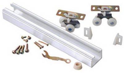 L E Johnson 100721DR 72-Inch Aluminum Single Door Track Set - Quantity 5