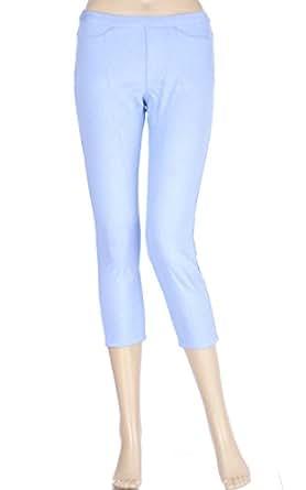 Hue The Original Jeans Capri Peri Blue Large (12-14)