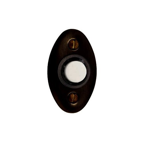 Baldwin 4852.112 Oval Doorbell Button, Venetian Bronze by Baldwin by Baldwin