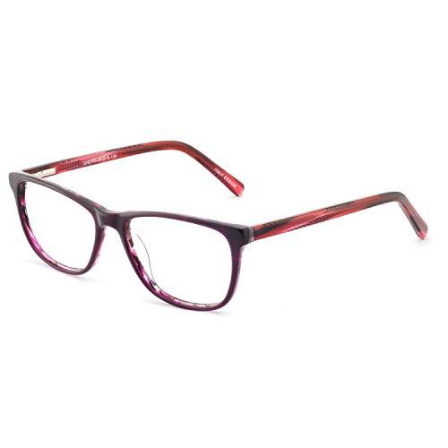 Women Eyeglasses Fashion Eyewear Printing Flower Optical Frame Clear Glasses ()
