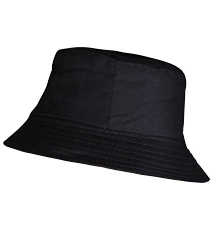 Mens Black Bucket Hat Solid Colored Bucket Sun Hat Womens Summer Bucket Hats (Bucket Hat Wholesale)