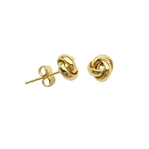 Yellow Gold Celtic Love Knots - 7
