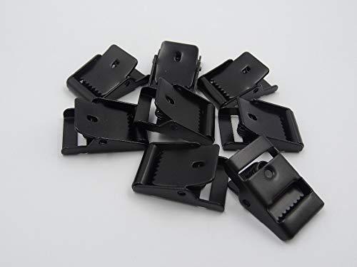 SaveStore Ratchet Buckles Clips for 18mm Webbing 5pcs Bag Parts Accessories Tri-Glide triglides Strap Clip Buckle Belt Stretcher
