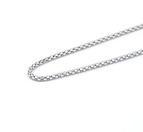 925 Sterling Silver Popcorn Coreana Chain Necklace, 2mm, 18