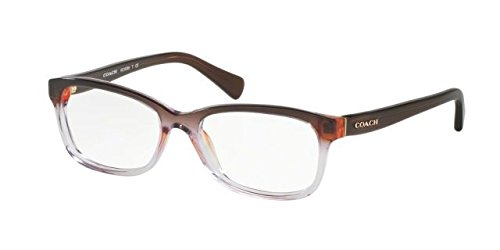 Coach Women's HC6089 Eyeglasses Purple Brown Gradient/Brown 49mm