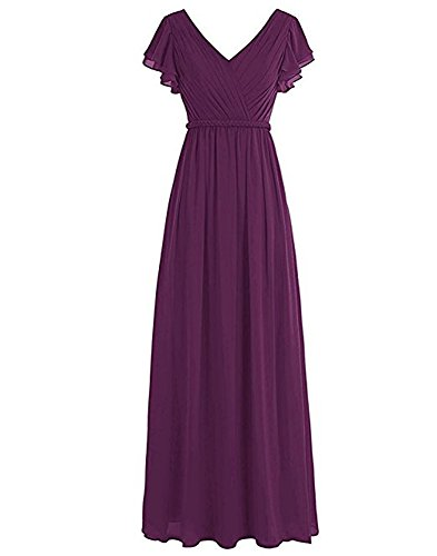 of Leader Beauty Kleid Damen Linie A Grape the zxqndwxU