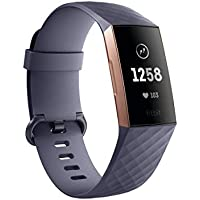Fitbit Charge 3 Fitness Activity Tracker, Rose Gold/Blue...