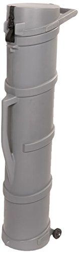 Cases By Source GC-1262 Tradeshow Graphics Tube Case with Wheels, 12'' Length, 12'' Width, 62'' Height, Gray