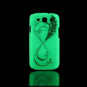 YULIN Phrase Pattern Glow in the Dark Hard Case for Samsung Galaxy S3 I9300