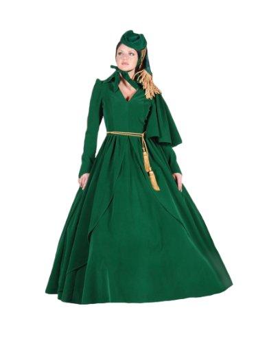 (Women's Old South Green Curtain Dress, Medium)