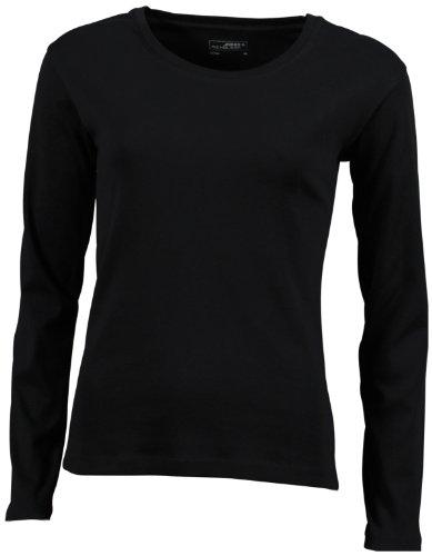 James & Nicholson Langarmshirt Shirt - Camisa Mujer Negro (black)
