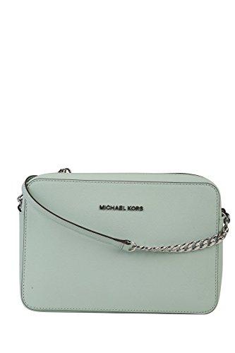 (Michael Kors  Women's Jet Set Crossbody Leather Bag, Celadon, Large )