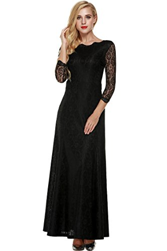 long black evening dress size 10 - 6