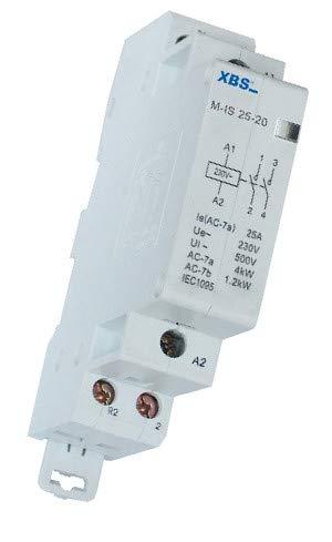Modular Leistungssch/ütz Sch/ütz 25A 1,2kW 230V AC 2NO 35mm DIN Montage XBS 5206