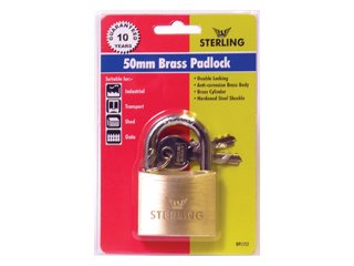 40mm Sterling Mid Security Brass Padlock