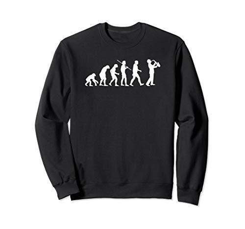 - Evolution Of A Saxophone Sax Jazz Silhouette Music Gift Sweatshirt