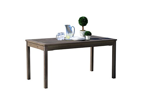 Vifah V1297 Renaissance Outdoor Hand-Scraped Hardwood Rectangular Table (Outdoor Hardwood Table)