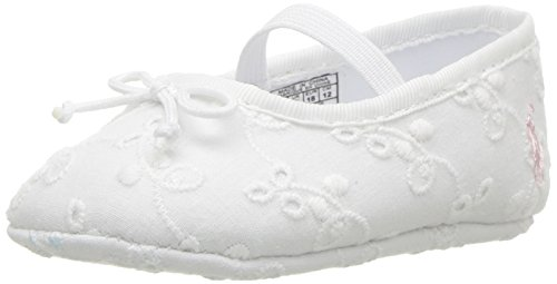 Product image of Polo Ralph Lauren Kids Girls' Allie Crib Shoe, White Eyelet, 3 M US Infant