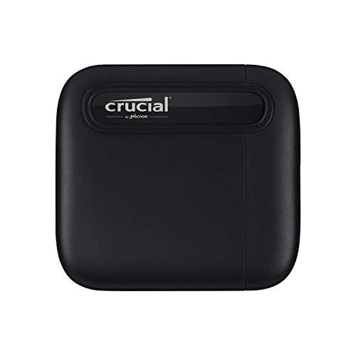 chollos oferta descuentos barato Crucial CT1000X6SSD9 X6 1 TB SSD portátil de hasta 540 MB s USB 3 2 Unidad de estado sólido externa USB C