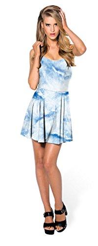 Women's Summer Dress Stretchy Skater Sleeveless 78 Printed Map Clubwear Soojun d5BZqwHa5