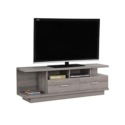 "Monarch TV Stand with 2 Drawers, 60"", Dark Taupe"