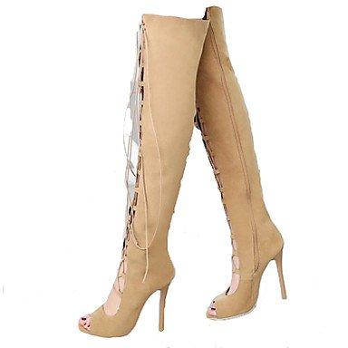 Talón 5 Alta Stiletto Mujer UK4 Botas EU37 Muslo 5 7 Lace Toe Pu Invierno Novedad Confort Botas De RTRY Boda Up Otoño CN37 Zapatos Para Moda US6 amp;Amp; Botas Peep 5 7CnEqPpaw
