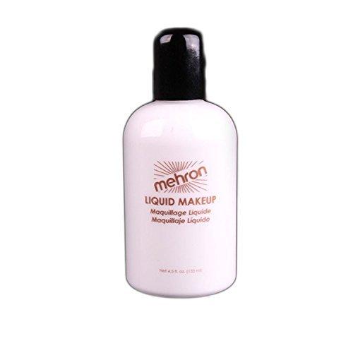 Mehron Makeup Liquid Face & Body Paint, WHITE - 4.5oz by Mehron