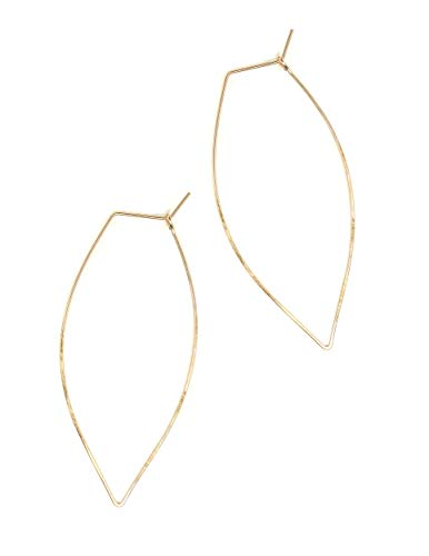 Featherweight Leaf Earrings – Large Gold
