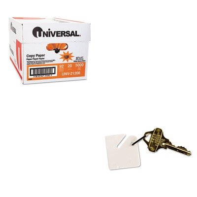 KITMMF2013001AA06UNV21200 - Value Kit - MMF Numbered Slotted Rack Key Tags (MMF2013001AA06) and Universal Copy Paper (UNV21200)