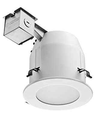 Lithonia Lighting LK5LMW 5-Inch Glass Shower Recessed Kit, Matte White