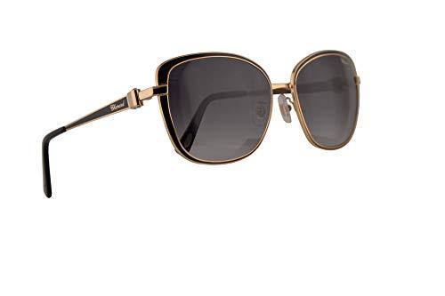 Chopard SCHB69S Sunglasses Black Gold w/Grey Gradient Lens 57mm 301F SCH B69S SCHB 69S ()