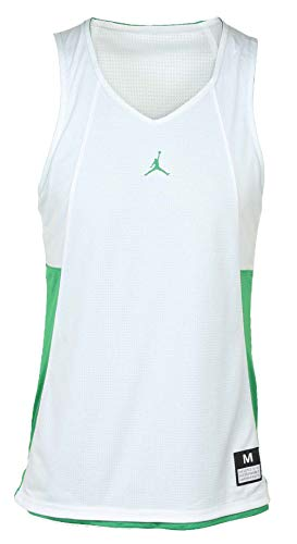 (Nike Jordan Men's Flight Basketball Reversible Tank Jersey (3XL, Kelly Green/White) )