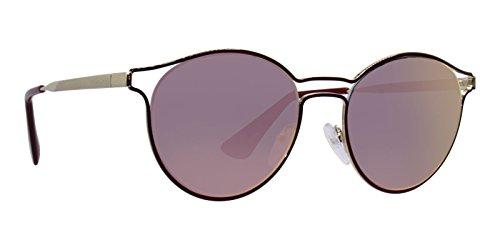 Prada Cinema PR62SS Sunglasses USH5L2-53 - Bordaux/pale Gold Frame, Grey Mirror ()