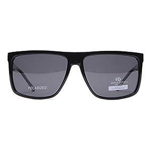 MKY Classic Retro Flat Top Oversized Wayfarer Sunglasses Square Aviator