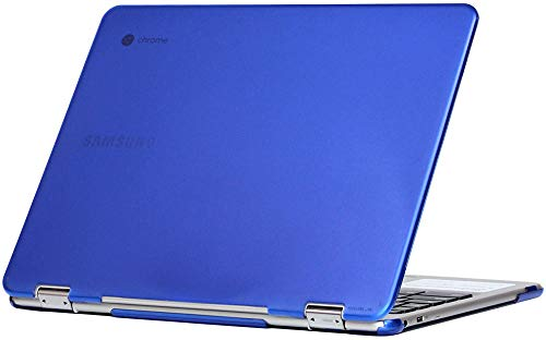 mCover Hard Shell Case for 2018 12.2 Samsung ChromeBook Plus XE521QAB XE525QBB Series (NOT Compatible with Older XE513C24 / XE510C24 / XE303C12 / XE500C12 / XE503C12 Models) Laptop - Blue