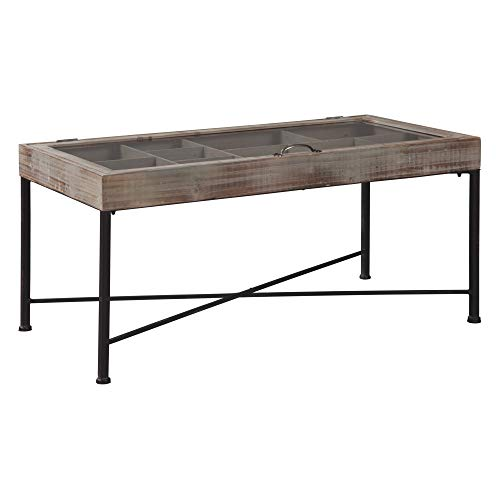 Ashley Furniture Signature Design - Shellmond Accent Cocktail Table - Antique Gray/Black (Display Coffee Case Table)